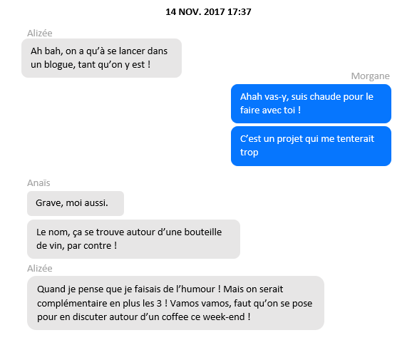 A propos - conversation